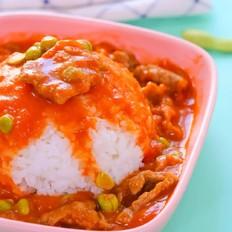 茄汁牛肉盖饭  宝宝辅食食谱
