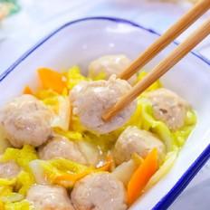 青菜烧肉丸  宝宝辅食食谱