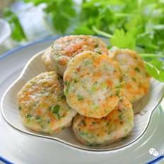 香芹虾饼【宝宝辅食】的做法