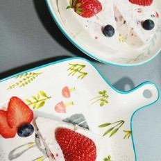 草莓酸奶燕麦蛋糕【宝宝辅食】的做法
