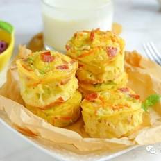 蔬菜小蛋糕【寶寶輔食】的做法