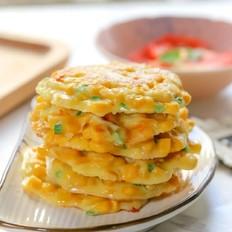 玉米粒奶酪饼【宝宝辅食】的做法