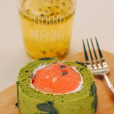 【初味日记】超萌的西瓜蛋糕卷