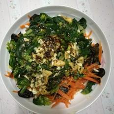 菠菜红萝卜拌木耳