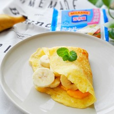 法式芝士香蕉可丽饼