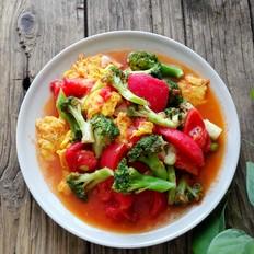 西红柿鸡蛋西兰花