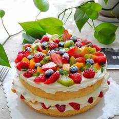 水果奶油裸蛋糕八寸