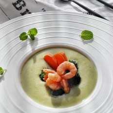 西兰花虾仁汤