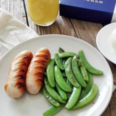 香煎金枪鱼肠甜豆