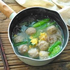 小白菜肉丸汤面