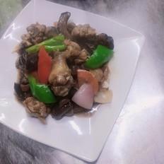 香菇焖鸡,家常菜,易学