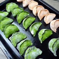 双色茴香猪肉饺