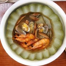 粤式海鲜冬瓜盅