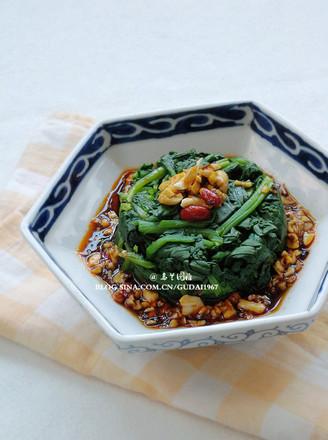 凉拌香辣菠菜的做法