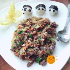 肉泥蔬菜熊猫饭