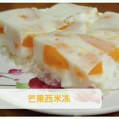 芒果西米牛奶冻