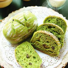 【抹茶红豆软欧包】清新怡人一抹绿