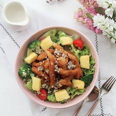 鸡柳凤梨时蔬沙拉的做法