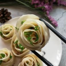 水煎玫瑰花饺
