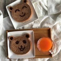 可可味小熊面包