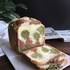 面包机版香酥三色辫子吐司