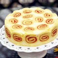 草莓卷奶酪慕斯蛋糕