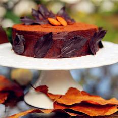 巧克力落叶蛋糕