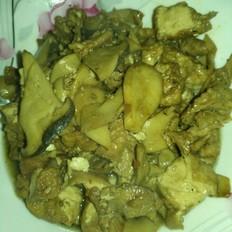 杏鲍菇炒油炸豆腐