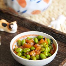 萝卜干小炒毛豆子