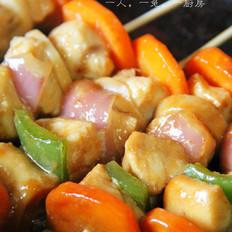 香煎鸡肉串