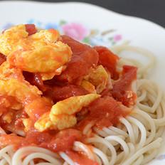 西红柿鸡蛋拌莜面