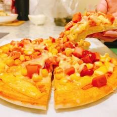 光波田园火腿披萨