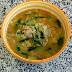 咖喱羊肉油菜汤