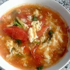鸡蛋柿子瓜片汤