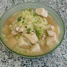 五花肉白菜炖冻豆腐