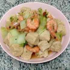 大虾白菜冻豆腐
