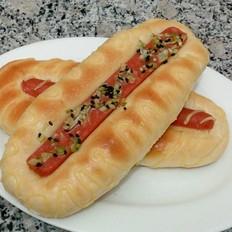 火腿卡仕达酱面包