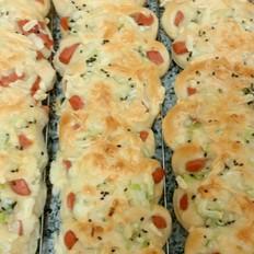 火腿马苏里拉奶酪面包