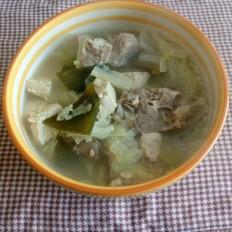 白菜海带炖冻豆腐