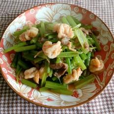 猪肉虾仁炒芹菜