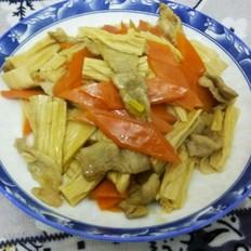 猪肉炖腐竹胡萝卜