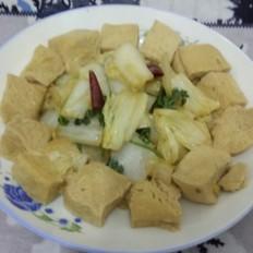 辣炒冻豆腐白菜