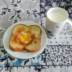 营养美味早餐面包片