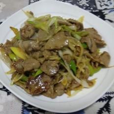 大葱炒羊肉午餐