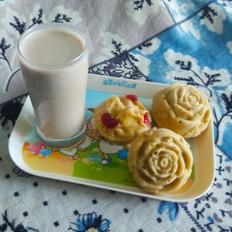 核桃豆浆米糕