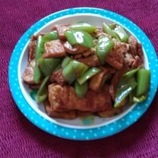 豆腐炒尖椒
