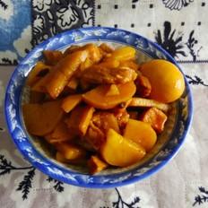 五花肉炖土豆(无油)
