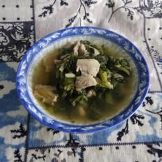 五花肉小白菜汤