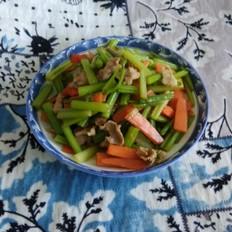 肉炒芹菜胡萝卜