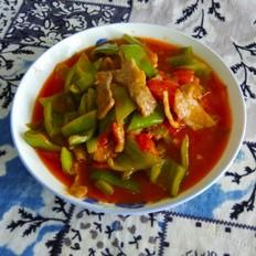 肉炒西红柿尖椒